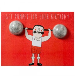 Get Pumped For Your Birthday Blaster Card