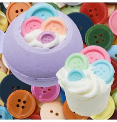 Button Me Up Bath Mallow & Bomb-Jamin Button Bath Blaster