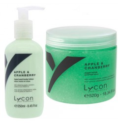 Apple & Cranberry Sugar Scrub & Bodylotion Lycon