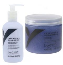 Lavender & Chamomille Sugar Scrub & Bodylotion Lycon