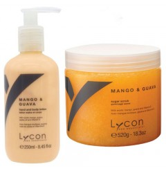 Mango & Guava Sugar Scrub & Bodylotion Lycon